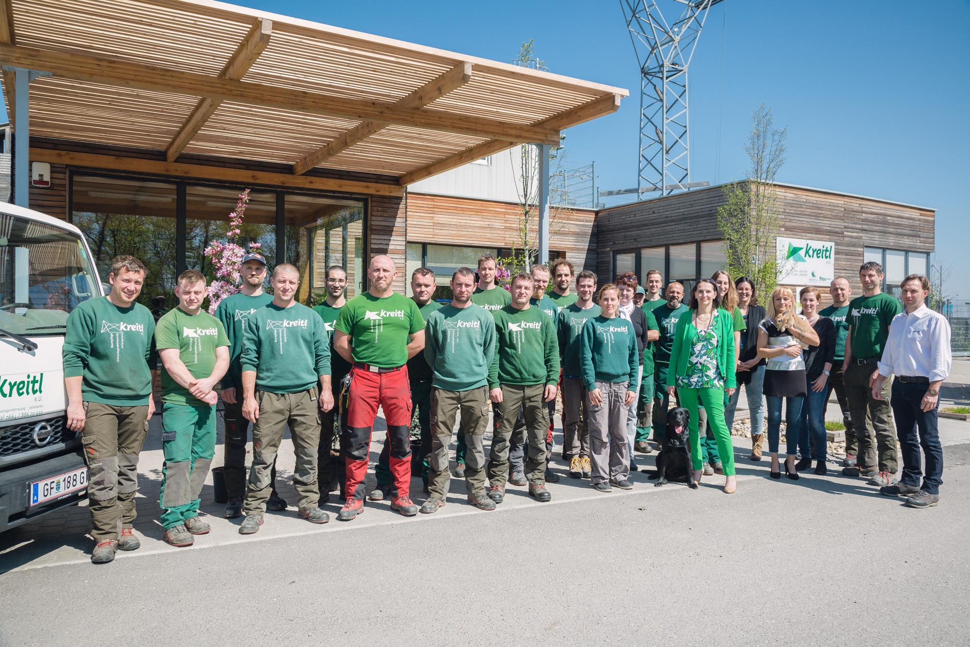 Das Team von Kreitl e. U. – eine starke Truppe!